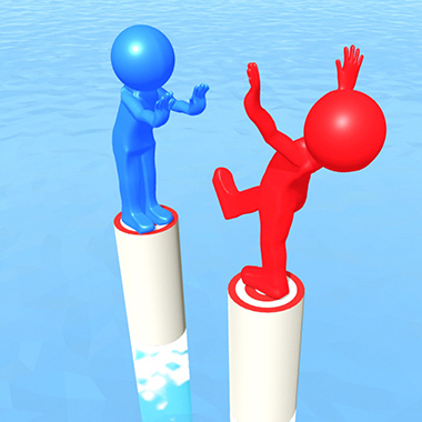 「 20秒で遊べる簡単バランス崩しゲーム」Push Battle !